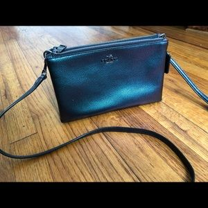 Coach black holographic Lyla crossbody